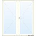 Dubbele Deur naar Binnen Openend - Glas