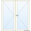 Dubbele Deur naar Buiten Openend - Glas