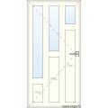 Deur naar Binnen Openend - 3 Raam 3 PVC