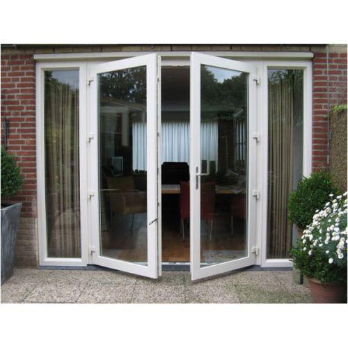Dubbele deur naar buiten openend glas - Buiten terras model ...