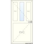 Deur naar Binnen Openend - Half PVC 1 Raam