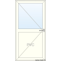 Deur naar Buiten Openend - Half PVC Half Glas