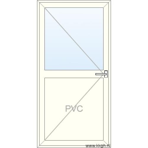 Deur naar Buiten Openend Half PVC Half Glas